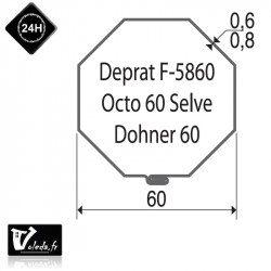 Bagues moteur volet roulant Simu-Somfy - Octogonal 60
