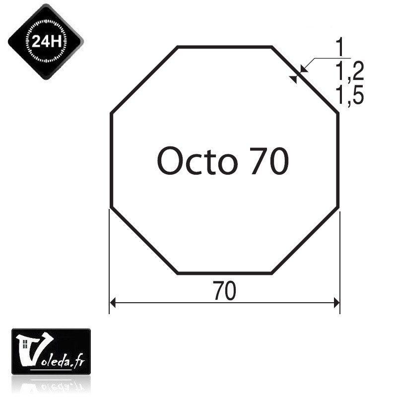 Bagues moteur volet roulant Simu-Somfy - Octogonal 70