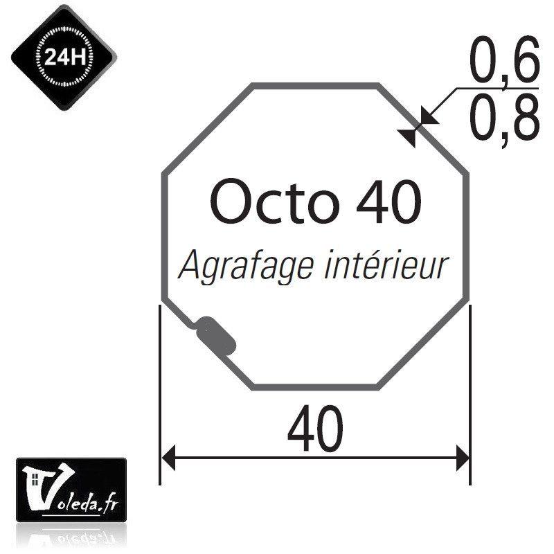 Bagues moteur volet roulant Simu-Somfy - Octogonal 40 decentre