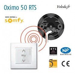 Moteur Somfy Oximo RTS 40/17 volet roulant