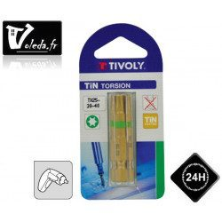 Embouts de vissage Tivoly Extra dur torsion Torx 50mm N 25-30-40