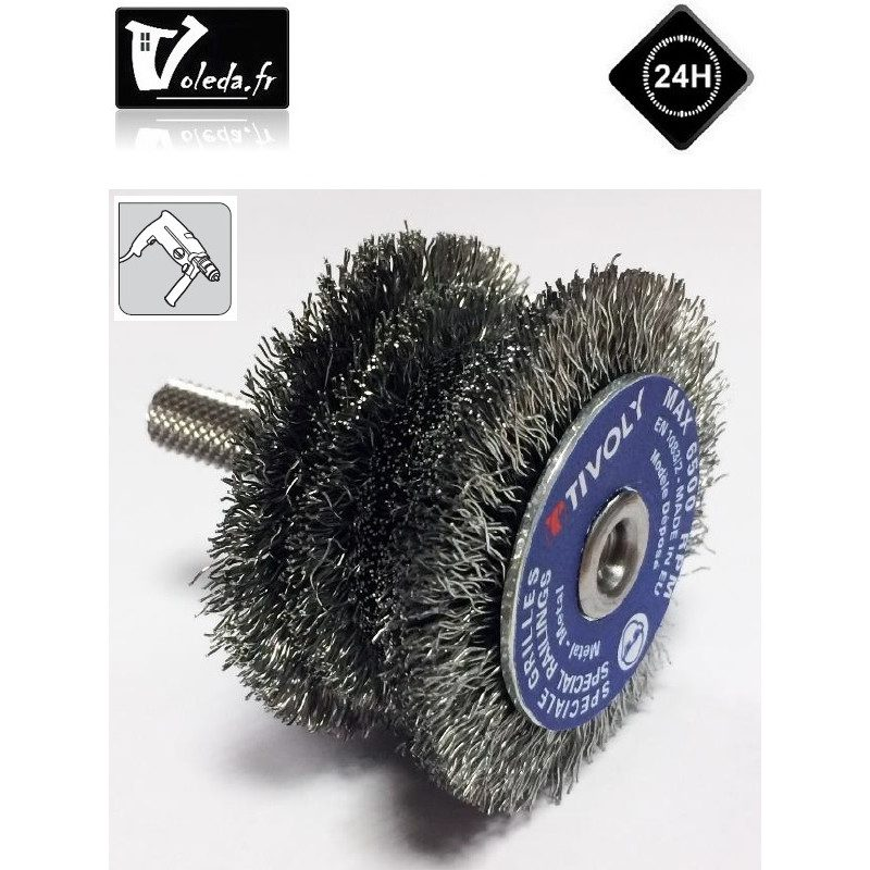 Brosse decapage metaux Tivoly circulaire etagee Technic