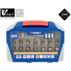 Coffret 22 pieces de vissage Tivoly Torsion Diamant