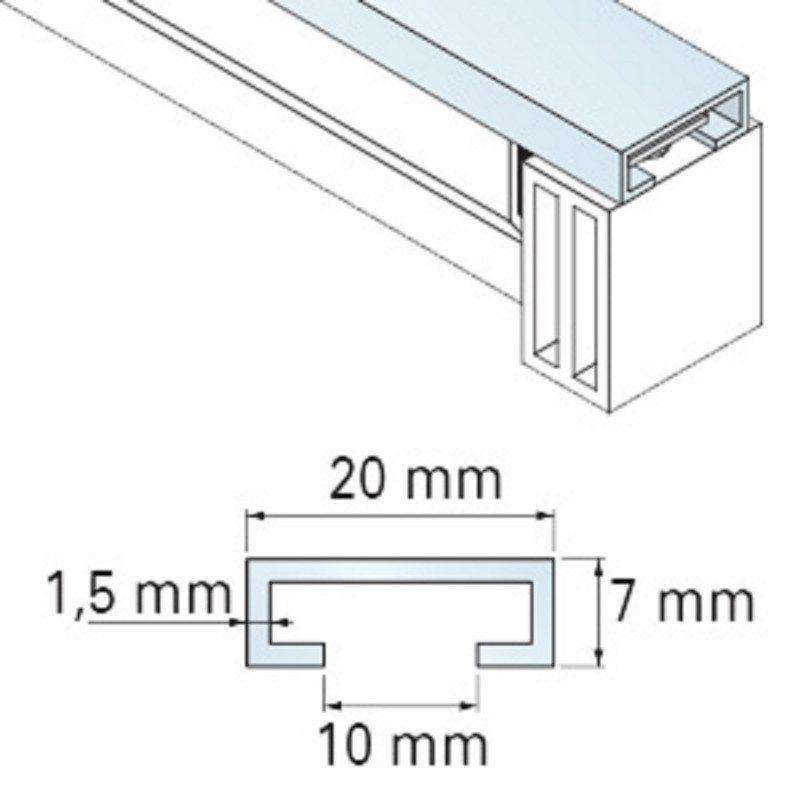 Rail 2.5 m alu barre palpeuse