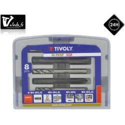 Coffret 8 pieces Tivoly de taraudage TF4