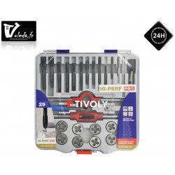 Coffret 29 pieces Tivoly de taraudage et filetage HSS