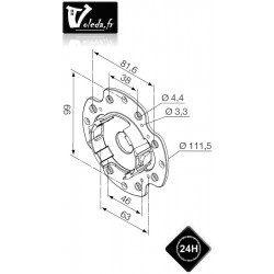 Support moteur Nice Era M Ø 45 mm - Universel plastique