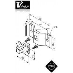 Support moteur Nice Era S Ø 35 mm - Etrier et pivot carre