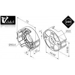 Support moteur Nice Era M Ø 45 mm - Compact en plastique