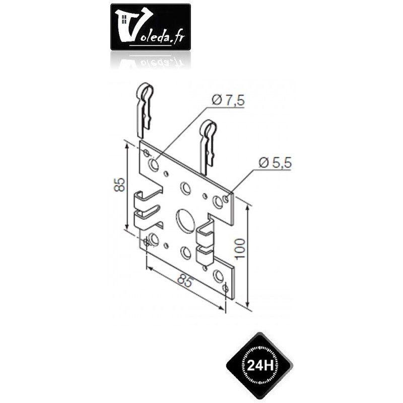 Support moteur Nice Era M et L Ø 45 mm ou 58 mm double pince
