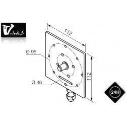 Support moteur Nice Era MH Ø 45 mm reglable plaque carree