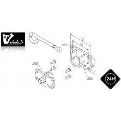 Support moteur Nice serie Era M Ø 45 mm - Etrier et pivot rond