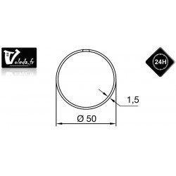 Bagues adaptation moteur Nice Era M et MH - Rond 50 couronne anneau