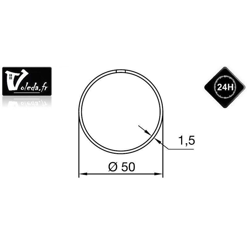 Bague adaptation moteur Nice Era M rond 50 (couronne à anneau)
