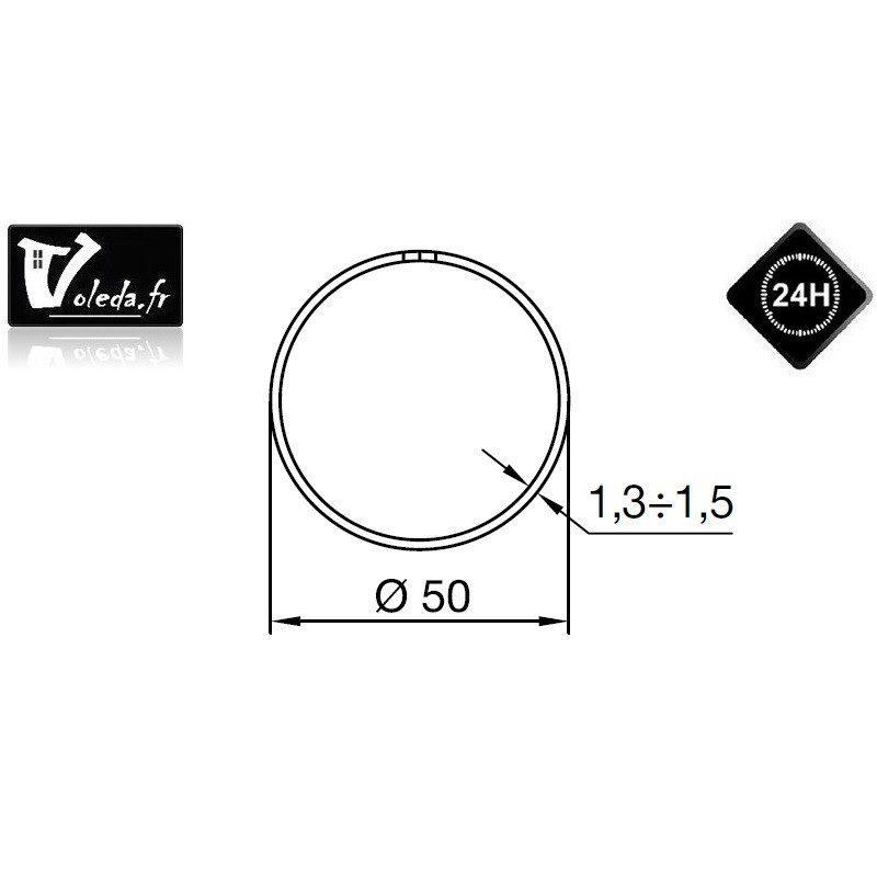 Bagues adaptation moteur Nice Era M et MH - Rond 50 x 1,3/1,5