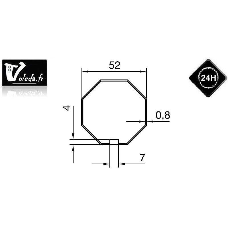 Bagues adaptation moteur Nice Era M et MH - Octogonal 52