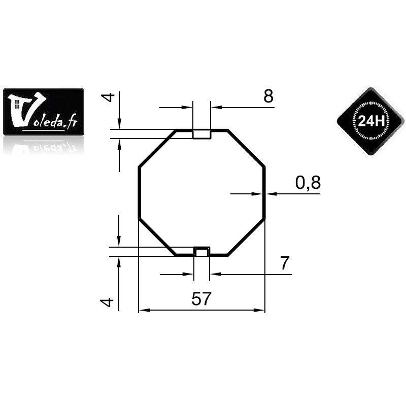Bagues adaptation moteur Nice Era M et MH - Octogonal 57