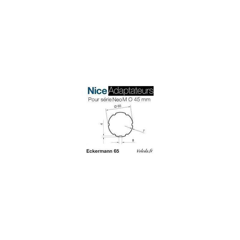 Bague adaptation moteur Nice Neo M Eckermann 65