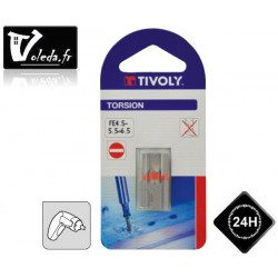 Embouts de vissage Tivoly Torsion Fente 25mm N  4.5-5.5-6.5