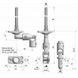 Sortie de caisson volet roulant 30° 22x45 pliable blanche - Hexa 7