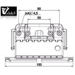 Attache rigide Clicksur tablier volet roulant 2 maillons lame 8 mm