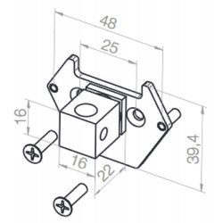 Plaque adaptation support moteur Elero Revoline L