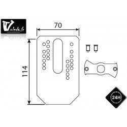 Support moteur Came Ø 45 mm plaque pour flancs