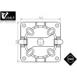 Support moteur Came Ø 45 mm fixation rapide Mondrian 5 avec trou