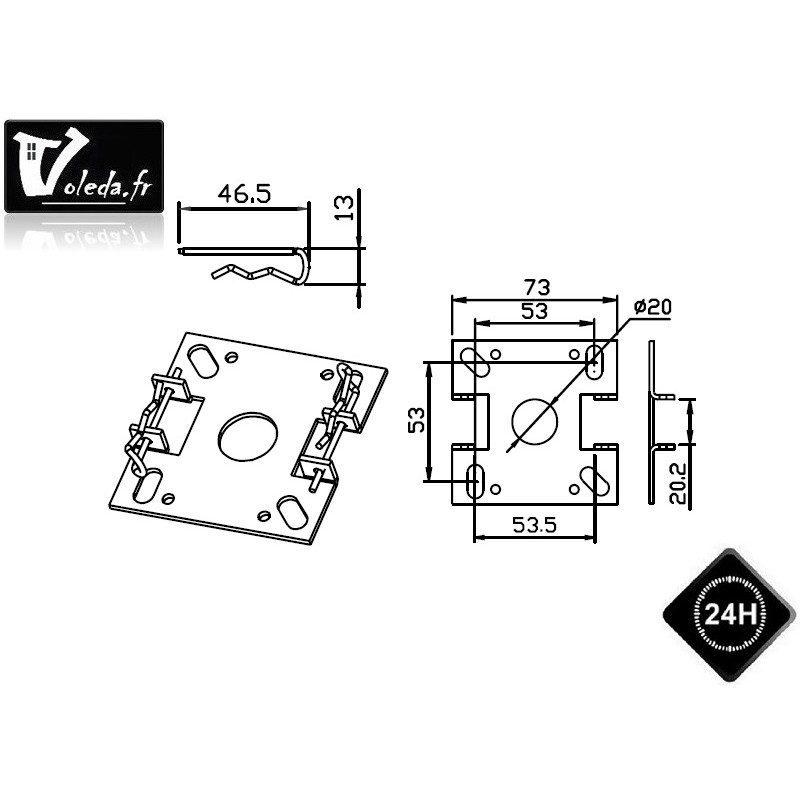Support moteur Came Ø 45 mm chantier Mondrian 5