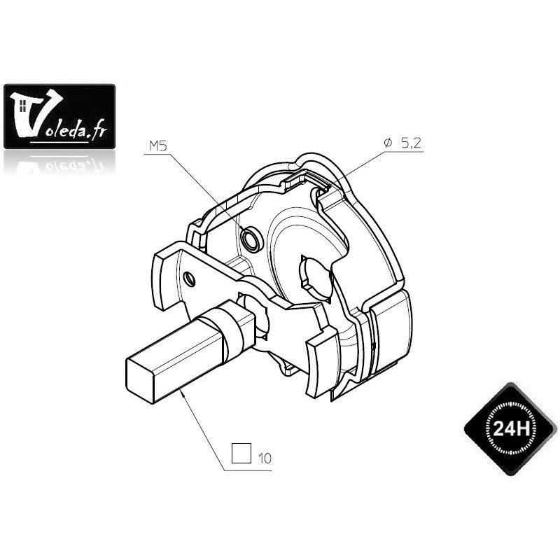 Support moteur Came Ø 45 mm en fer Mondrian 5