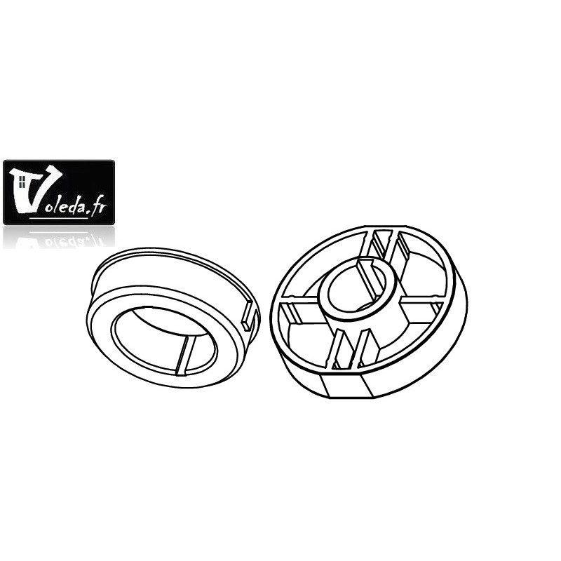 Bagues adaptation moteur Came 55 mm - Rond 102,5
