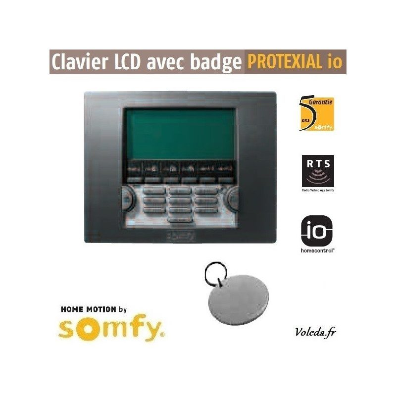 Clavier Lcd alarme Somfy io et rts
