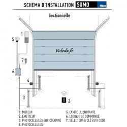 Nice Sumo 2000V - Motorisation porte de garage