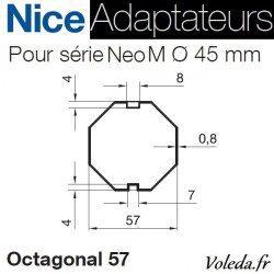 Bague adaptation moteur Nice Neo M octo 57