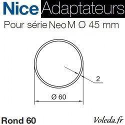 Bague adaptation moteur Nice Neo M Rond 60x2