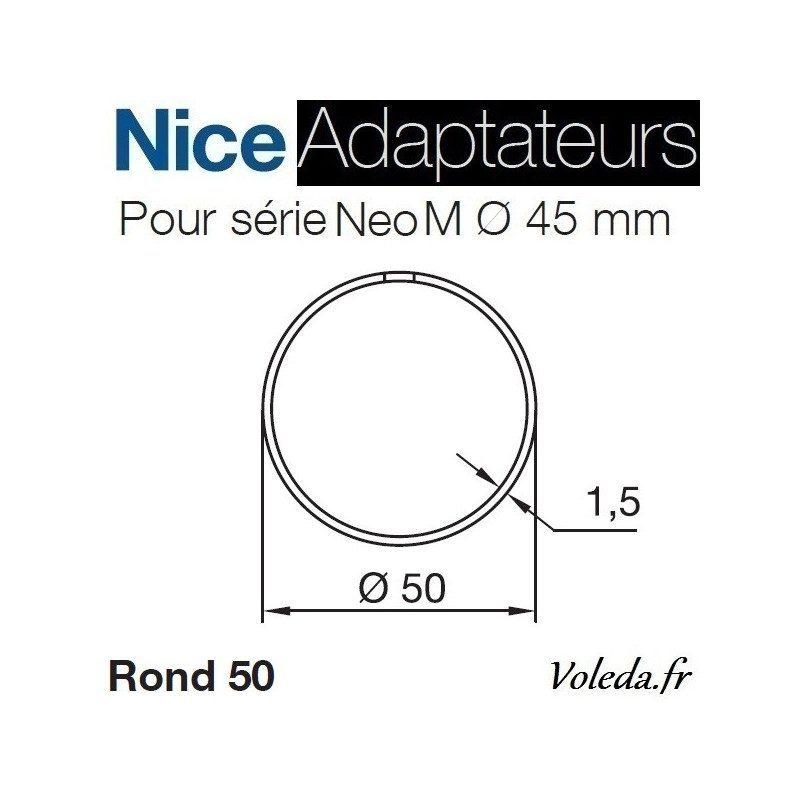 Bague adaptation moteur Nice Neo M Rond 50x1,5 Roue