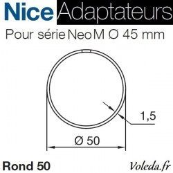 Bague adaptation moteur Nice Neo M Tube Rond 50x1,5