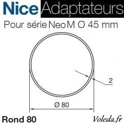 Bague adaptation moteur Nice Neo M Tube Rond 80x2