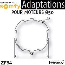 Bague adaptation moteur Somfy LT50 ZF 54