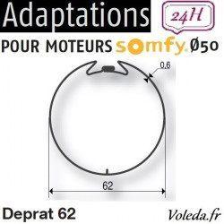 Bague adaptation moteur Somfy LT50 Deprat 62