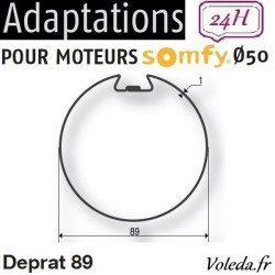 Bague adaptation moteur Somfy LT50 Deprat 89