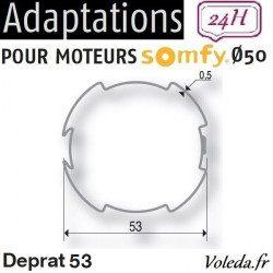 Bague adaptation moteur Somfy LT50 Deprat 53