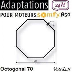 Bague adaptation moteur Somfy LT50 Octogonal 70 Imbac