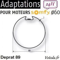 Bague adaptation moteur Somfy LT60 Deprat 89