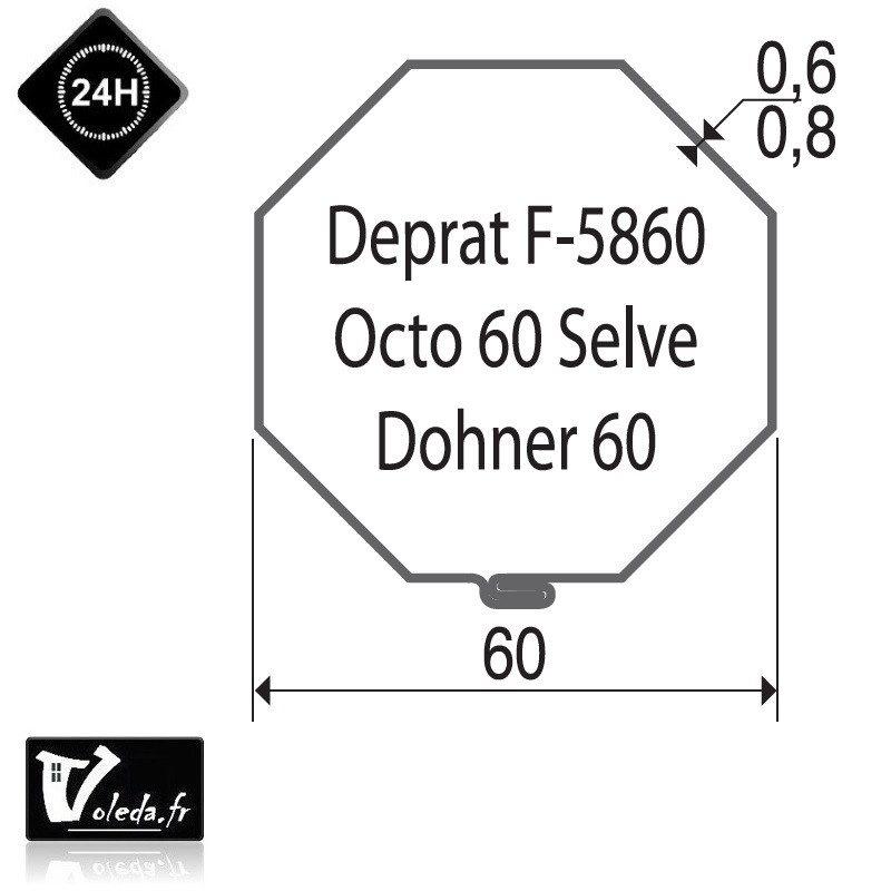 Bague moteur volet roulant Becker R - Octogonal 60