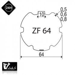 Bagues adaptation moteur Came 45 mm - Rond ZF 64