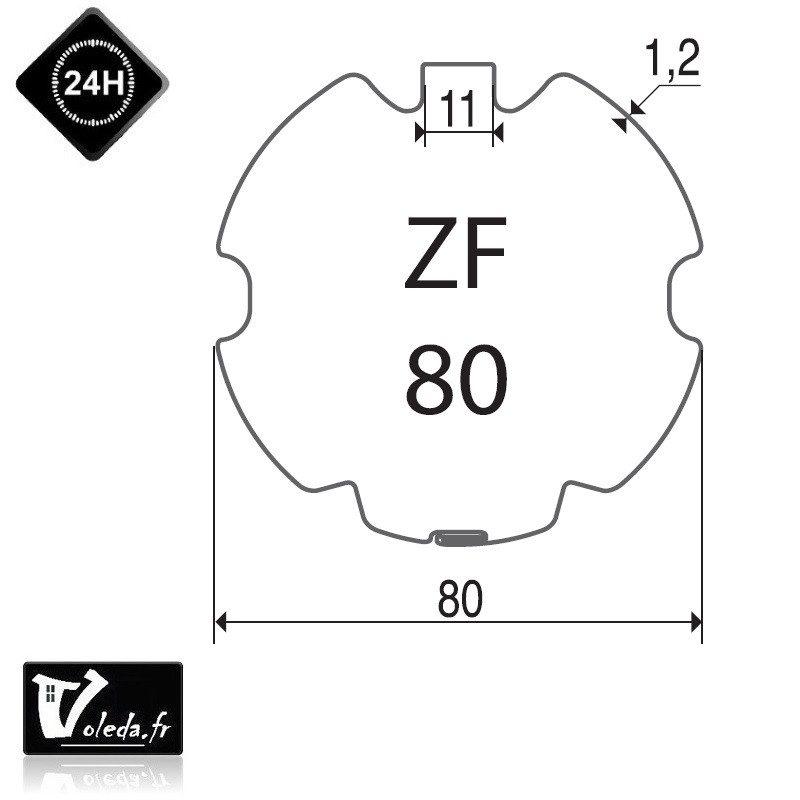 Bagues adaptation moteur Came 45 mm ZF 80