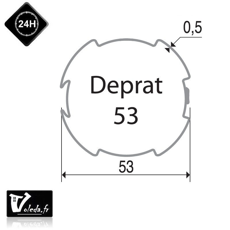 Bagues adaptation moteur Came 45 mm Deprat 53