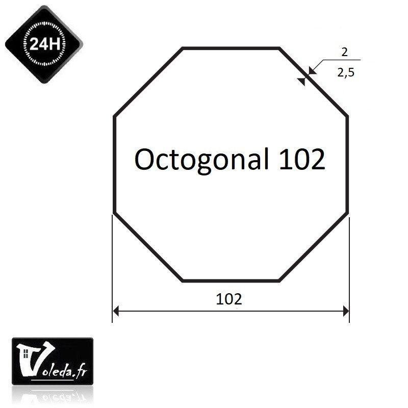 Bagues moteur volet roulant Simu T6 Dmi6 - Octogonal 102