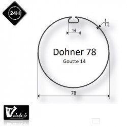 Bague adaptation moteur Somfy LT60 Dohner 78 Goutte 14